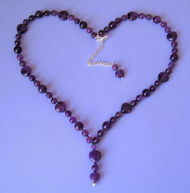amethyst heart necklace heartthrobdesignscouk