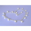 Crystal & Freshwater Pearl Ankle Chains