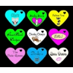 Personalised Love Heart Tags