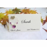 3D Heart Wine Glass Charm Place Name Cards