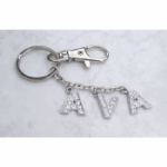 Personalised Crystal Name Keyring