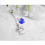 Guardian Angel & Heart Something Blue Charm
