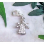 Crystal Guardian Angel Pet Collar Charm