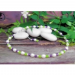 Asta Freshwater Pearl, Jade & Amethyst Necklace