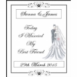 Harmony Personalised Wedding Wine & Champagne Bottle Labels