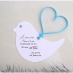 Bird Shaped Personalised Wedding Favour Tags
