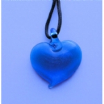 Blue Foil Heart Necklace