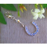 Crystal Something Blue Horseshoe Charm
