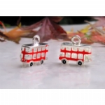 3D Enamel Red London Bus Charms