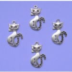 Sitting Cat Charms