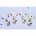 Cat Wine Glass Charms & Napkin Rings