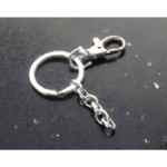 Silver Tone Circle Key Ring DIY Kit