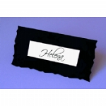 Decorative Edge Place Name Card With 3D Name Plate