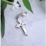 Enamel & Rhinestone Cross Charms