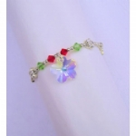 Crystal Flower Beaded Napkin Rings