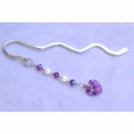 Crystal Heart Bookmark