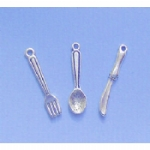 3 Piece Cutlery Charms