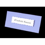 3D Decorative Plate Folded Place Name Cards