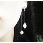 Delta Double Drop Pearl Earrings