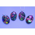 Dichroic Oval Pendant Necklace