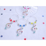 Crystal Treble Clef Wine Glass Charms & Napkin Rings