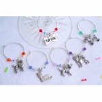 Dog Breed Wine Glass Charms & Napkin Rings
