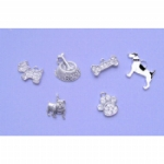 Set Of 6 Dog Charms