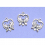 Love Dove Heart Charms