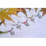 Butterfly / Dragonfly Wine Glass Charms & Napkin Rings