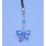 Crystal Dragonfly Mobile /MP3 Player Charm
