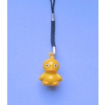 Enamel Jingle Bell Duck Mobile /MP3 Player Charm