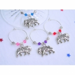 Elephant Wine Glass Charms & Napkin Rings