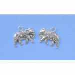 Silver Coloured Ornate Elephant Charms