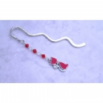 Enamel & Rhinestone Cat Bookmark