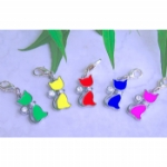 Enamel & Rhinestone Cat Charms