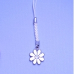 Enamel & Rhinestone Flower Mobile /MP3 Player Charm