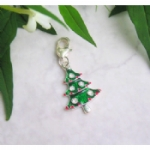 Enamel & Rhinestone Christmas Tree Pet Collar Charm