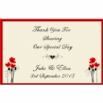 Field Of Dreams Personalised Wedding Wine & Champagne Bottle Labels