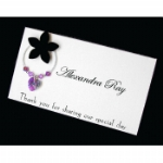 3D Flower Wine Glass Charm Place Name Cards