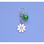 Enamel & Crystal Flower Pet Collar Charm