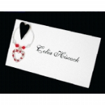3D Funky Heart Wine Glass Charm Place Name Cards