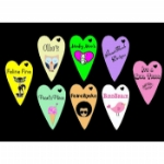 Personalised Funky Love Heart Tags