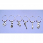 Gemstone Wine Glass Charms & Napkin Rings