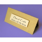 Straight Edge 3D Name Plate Folded Place Name Cards