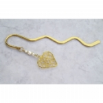 Golden Wire Heart Bookmark