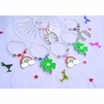 Good Luck Wine Glass Charms & Napkin Rings