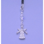 Crystal Guardian Angel Mobile /MP3 Player Charm