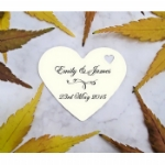 Medium Personalised Love Heart Favour Tags