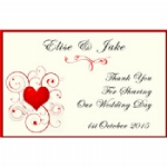 Heart In A Whirl Personalised Wedding Wine & Champagne Bottle Labels