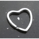 Silver Tone Heart Key Ring